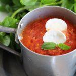 Zuppa di pomodori arrostiti.