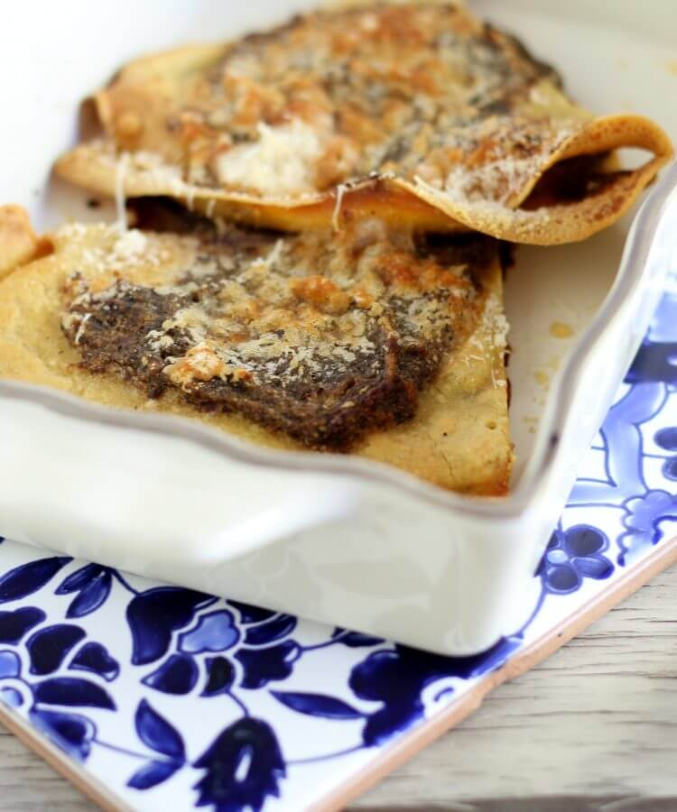 Chickpea's flour gluten free crêpes.
