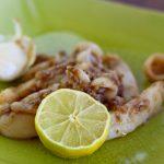 Calamari aglio e pepe, ricetta thai.