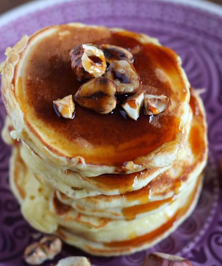 Pancakes alla zucca/ Pumpkin pancakes.