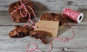 Cookies morbidi cioccolato e caffè/ Chewy chocolate & coffee cookies.