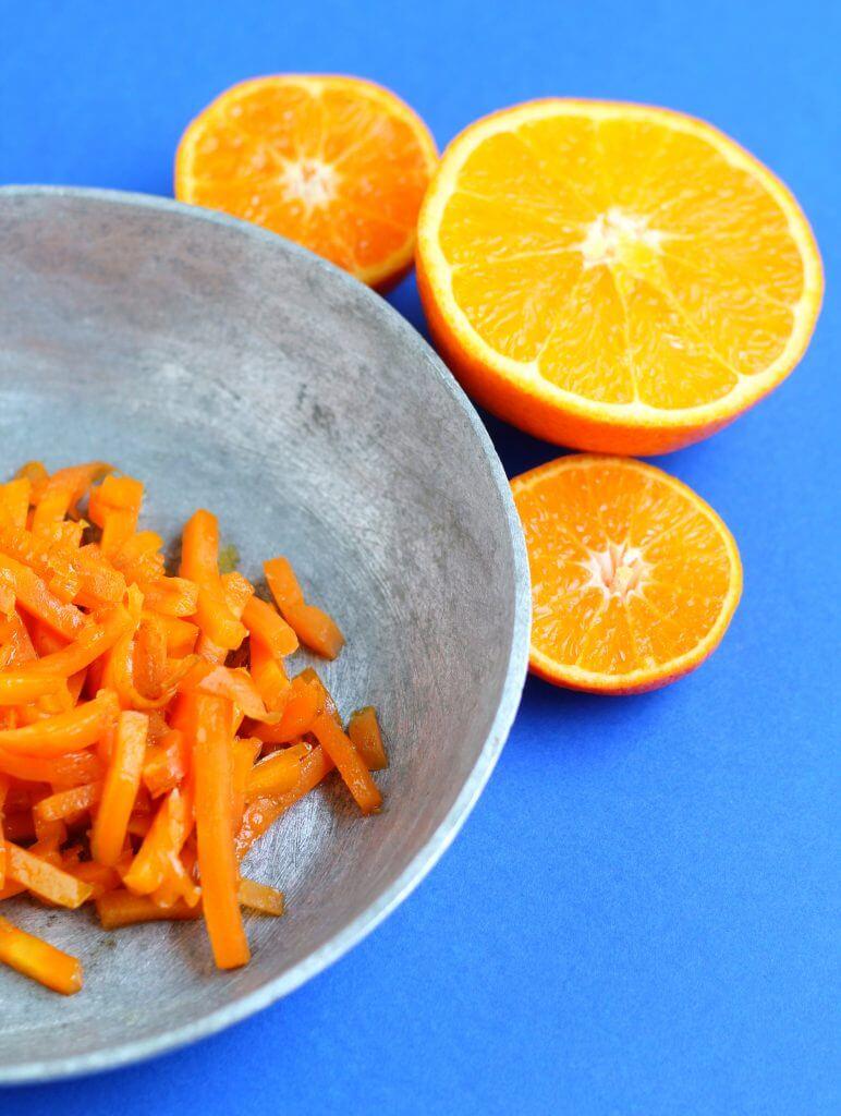 Orange sauteed carrots.