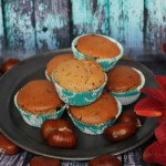 Muffin vegani alle castagne/ Chestnut vegan muffins.