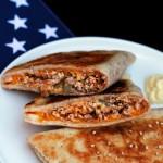 Cassoni americani/ American piadina bread turnovers.