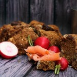 Soda bread segale e castagne/ Chestnut & rye soda bread.