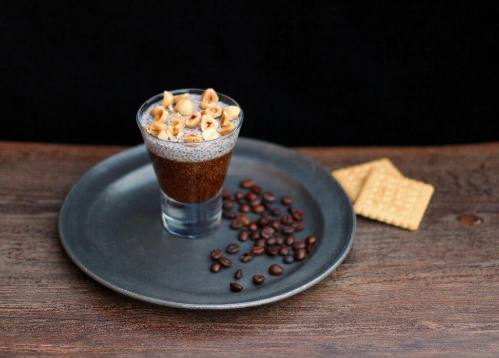 """""""Cappuccino"""" ai semi di chia/ Cappuccino chia pudding."""