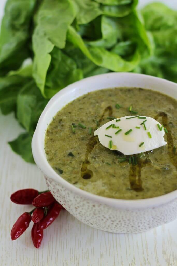 Vellutata di lattuga/ Lettuce soup.