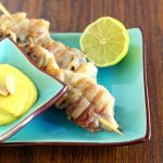 Pollo satay/ Chicken satay.