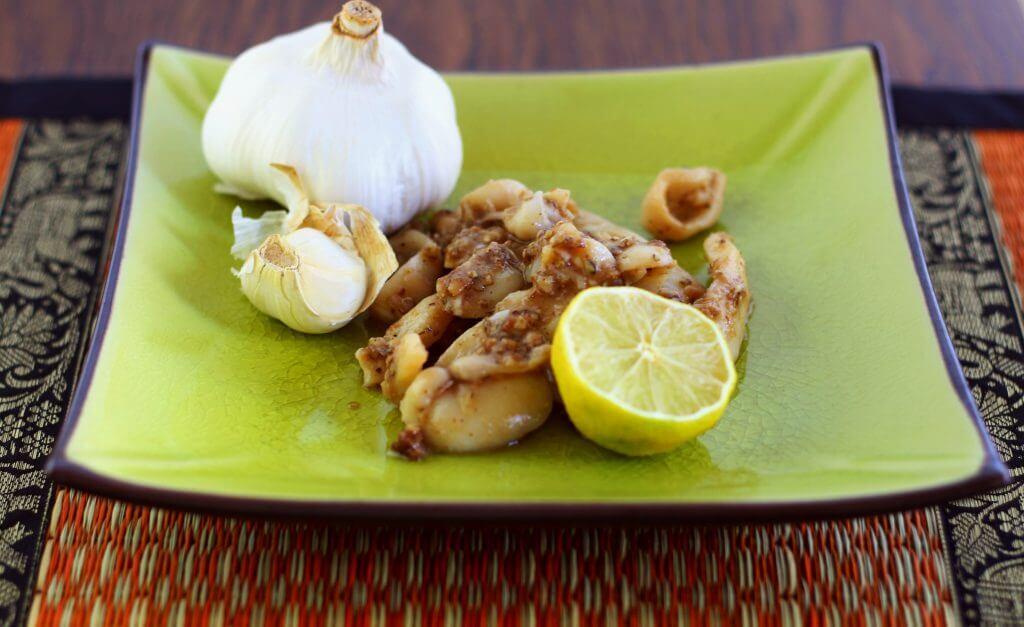 calamari pepe e aglio
