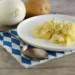 Kartoffelsalat bayrisch, Bavarian potato salad.