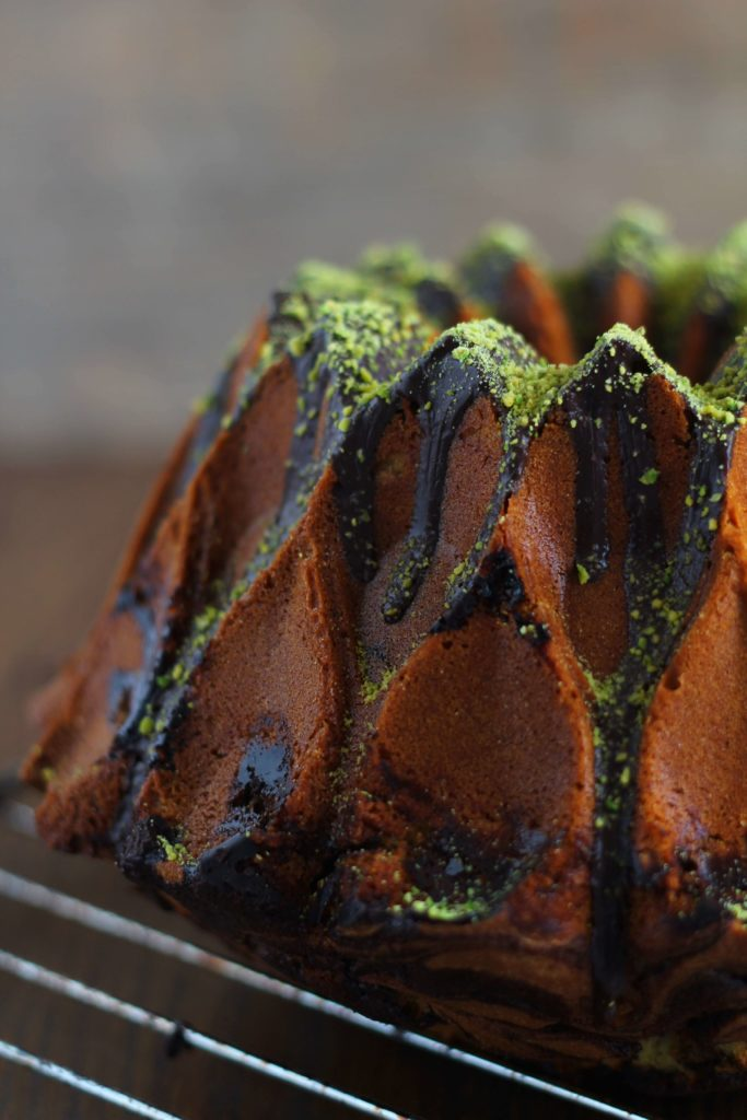 Pistachio And Chocolate Marbled Bundt Cake La Mora