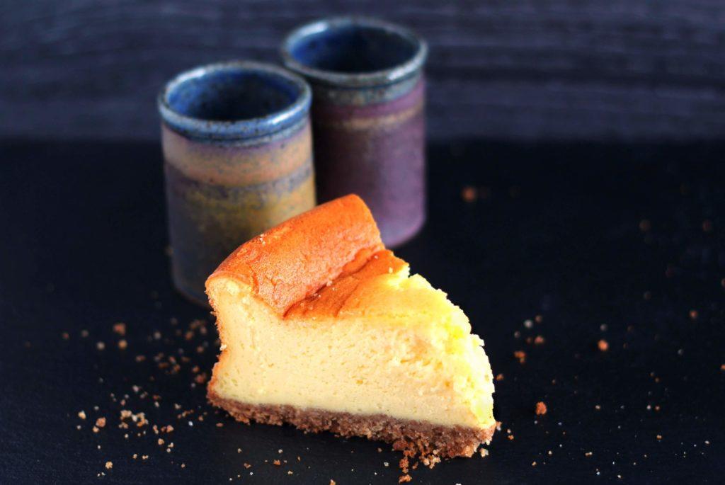 Cheesecake classica al forno.