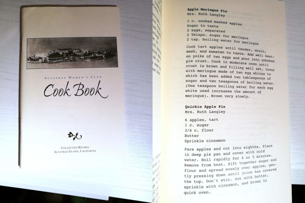 alcatraz women's club cook book
